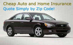 Cheap home and auto insurance rates by zip code